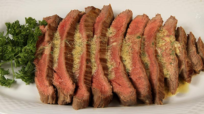 Low-Carb Mustard Butter Flank Steak Recipe