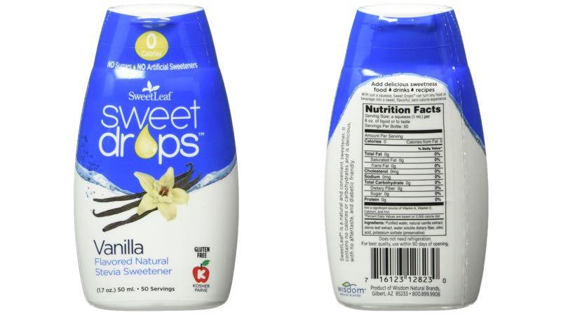 SweetLeaf Sweet Drops Liquid Stevia Vanilla Sweetener