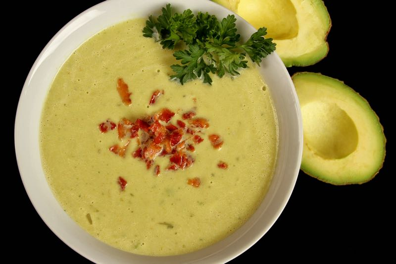 Avocado Bacon Soup from Fat Fast Cookbook 2