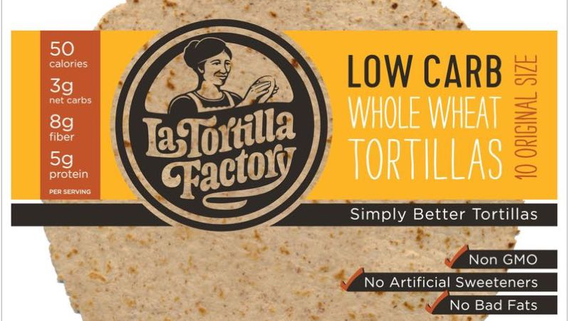 La Tortilla Factory Original Size Whole Wheat Low Carb Tortillas