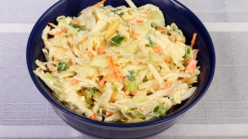 Crunchy Low-Carb Cole Slaw with Almonds Recipe