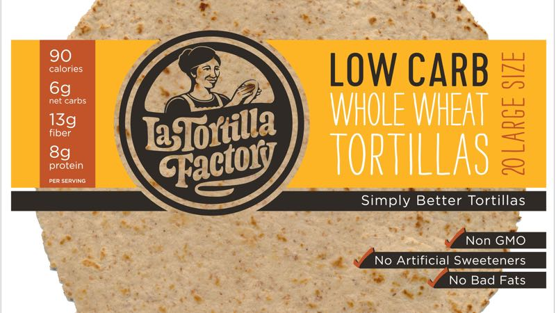 20 Pack of Large Low Carb Tortillas 9 inch by La Tortilla Factory