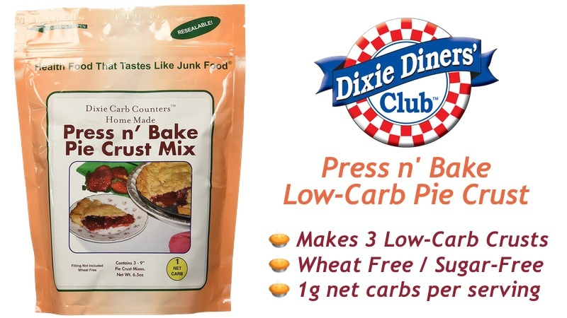 Dixie Carb Counters Press N Bake Low-Carb Pie Crust Mix
