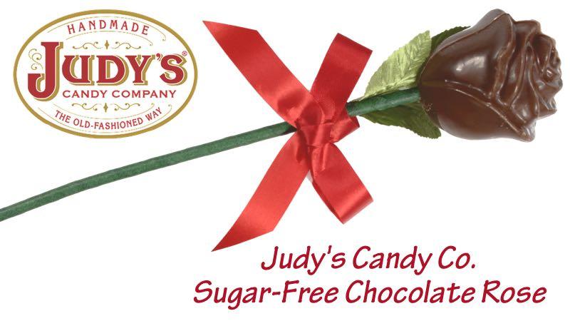 Judy's Candy Co. Sugar-Free Chocolate Rose