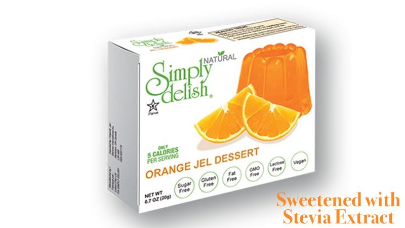 Simply Delish Orange Dessert Gelatin Sweetened with Stevia Extract