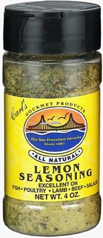 Carl's Gourmet All Natural Lemon Seasoning and Meat Rub
