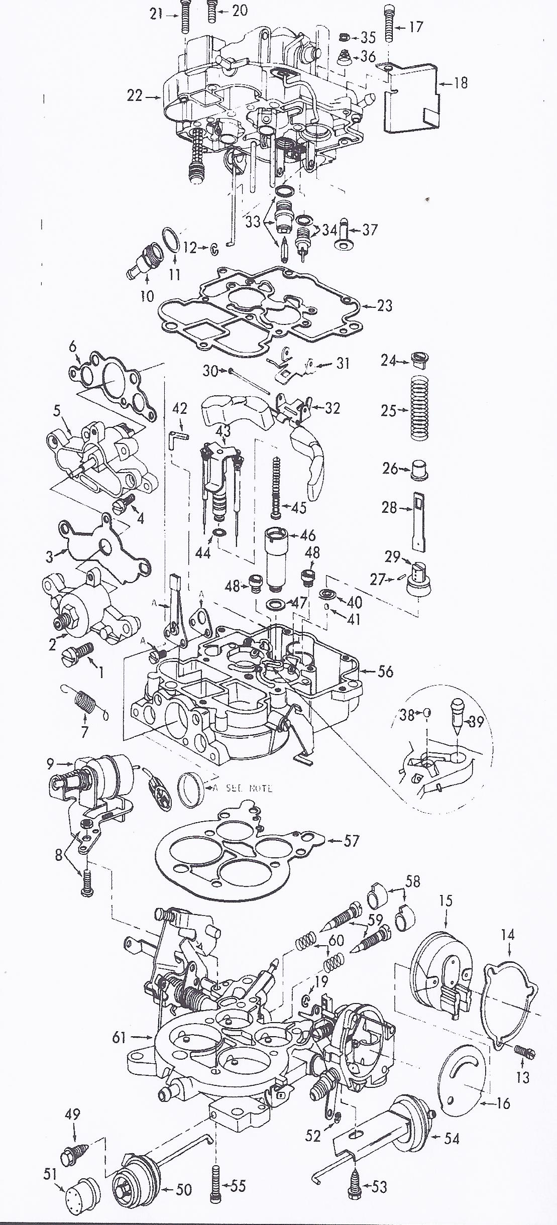 Autolite Carburetor Exploded View