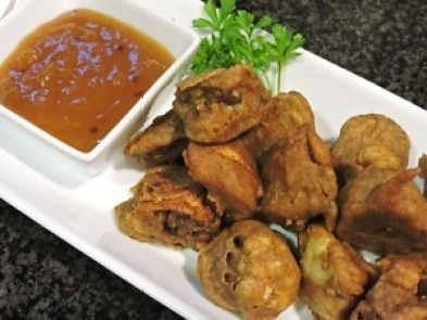 Fritters with Chutney