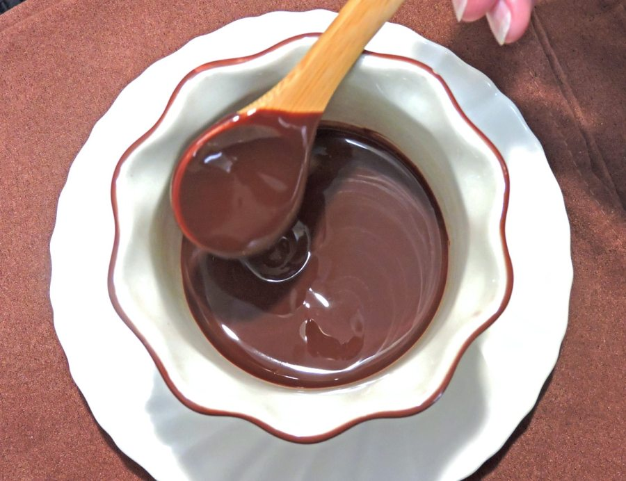Chocolate Sauce Perfection (Allulose Sweetened), Photo by Judy Barnes Baker © 2021 (carbwarscookbooks.com)