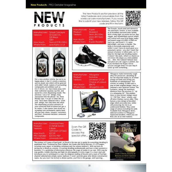 PRO Detailer Magazine - Nr. 5-2017 - New Products