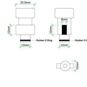 CCNL - Foamgun koppeling - Bosch Aquatek Faip