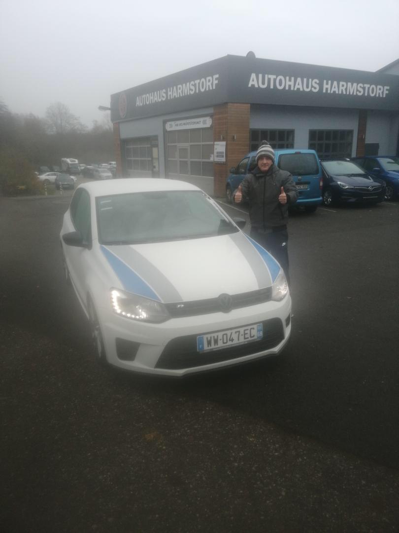 client satisfait Importateur Automobile Volkswagen Occasion Allemagne - Carcelle.com - VW Polo