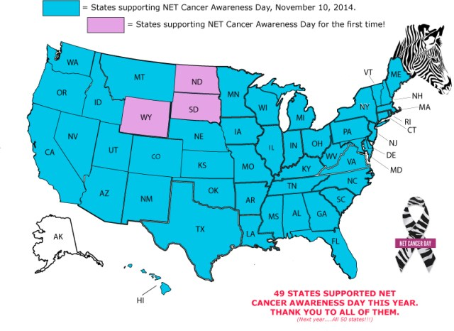 49 US Governors Recognized the Importance of Awareness and Early Detection for Neuroendocrine Cancer Patients