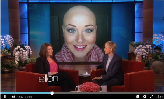 NET Survivor Stephanie Madsen Chosen as Cover Girl Bombshell Winner Appears on the Ellen TV Show