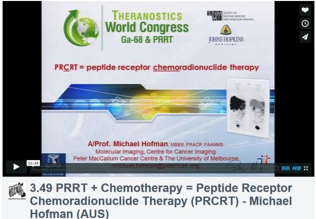 3rd Theranostics World Congress, PRCRT, Michael Hofman, MD