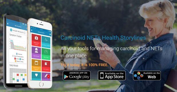 Carcinoid NETs app, Health Storylines