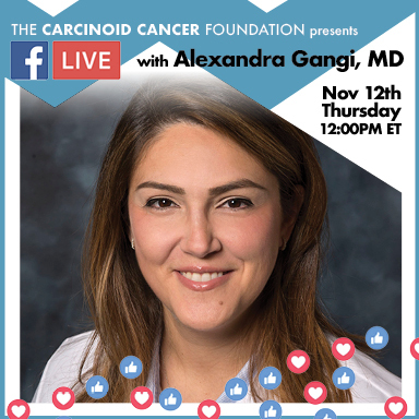 CCFFacebookLIVE Announcement Lunch with Experts Alexandra Gangi, MD Nov 12