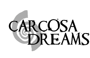"""a left handed spiral, overlayed with the words """"Carcosa Dreams"""""""