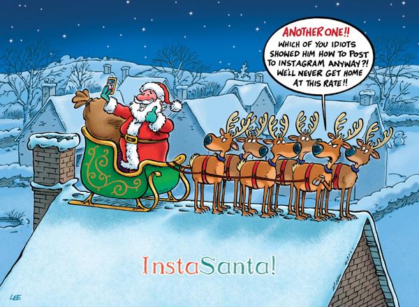 Insta Santa Funny Christmas Cards