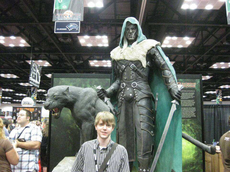 Standing next to Drizzt!