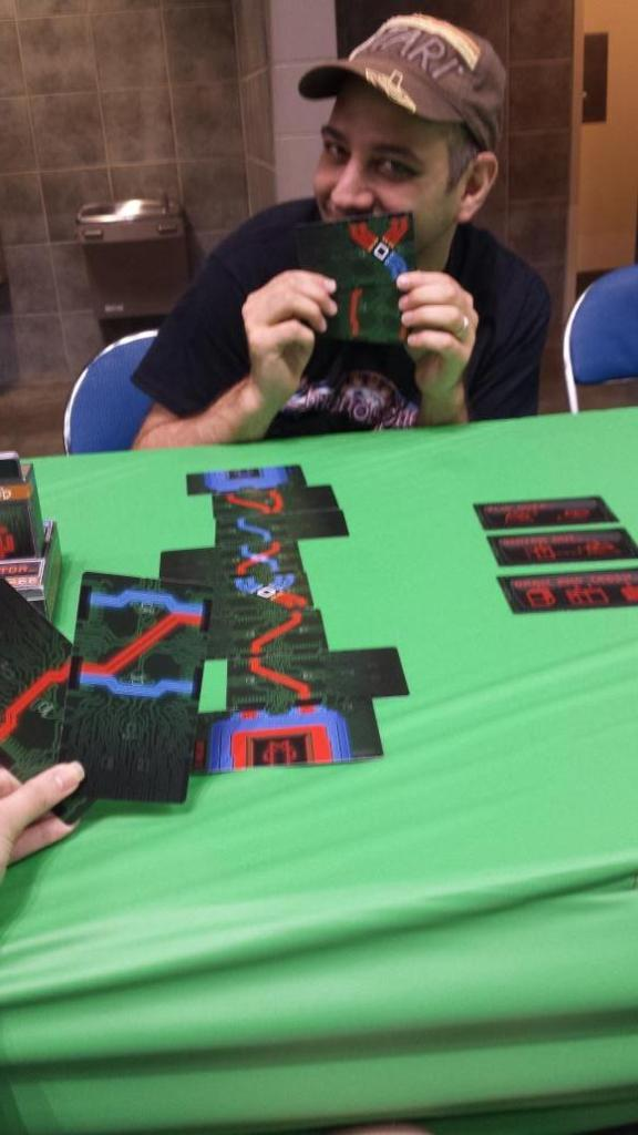 Dice Hate Me's Stephanie Straw faced off against Kind Fortress' Isaac Shalev in a game of RESISTOR_