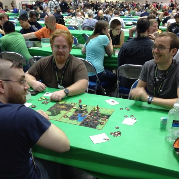 New friends Tim and Peter trying to kill some Kobolds!