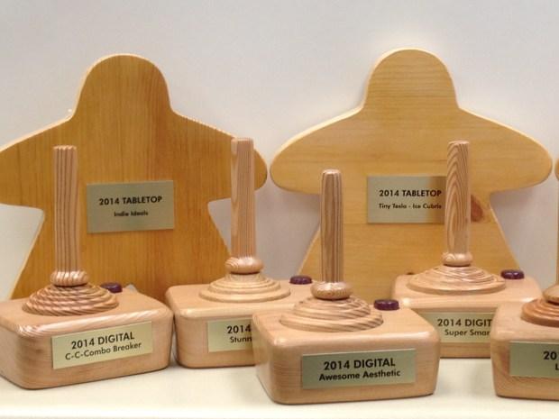 The very cool awards made by Ad Magic! Photo courtesy of Shari Spiro.