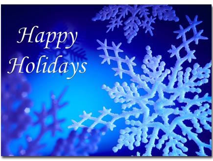 Holidays Blue Snowflakes CC H026