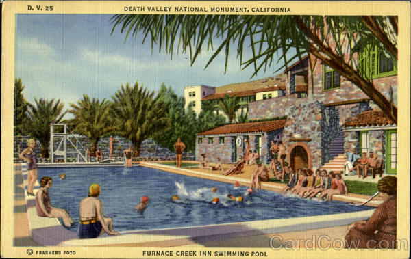 Furnace Creek Inn Swimming Pool Death Valley National