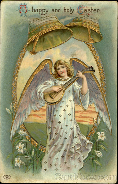 A Happy And Holy Easter With Angels