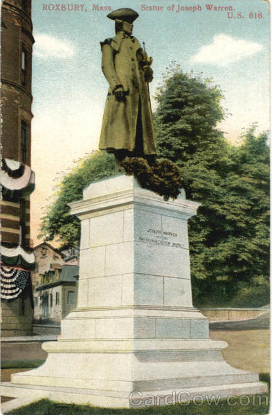 Statue Of Joseph Warren Roxbury MA