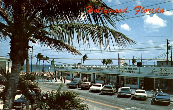 Along Johnson Street With The Famous Hollywood Beach