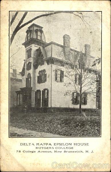 Delta Kappa Epsilon House Rutgers College 78 College