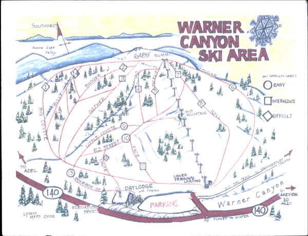 Warner Canyon Ski Area Christmas Valley OR