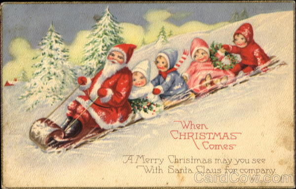 Santa Toboggan Children Santa Claus
