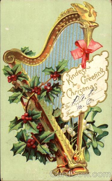 Harp Kindest For Greeting Christmas