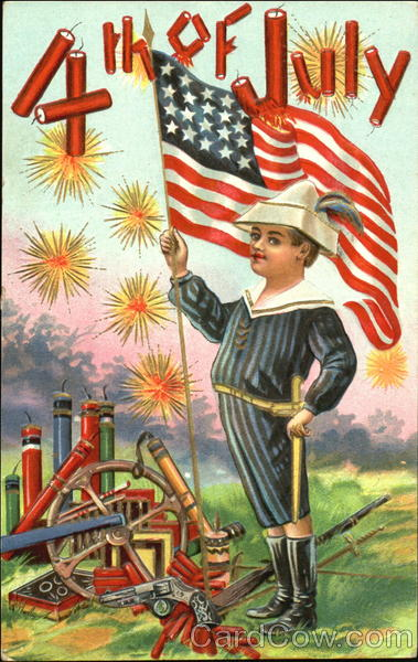 4th Of July Antique Postcard