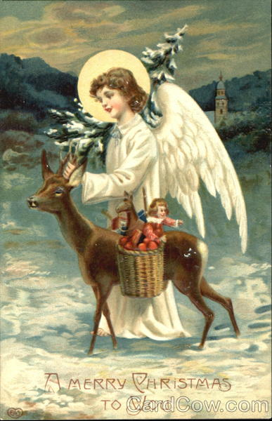 Angel With Deer Angels