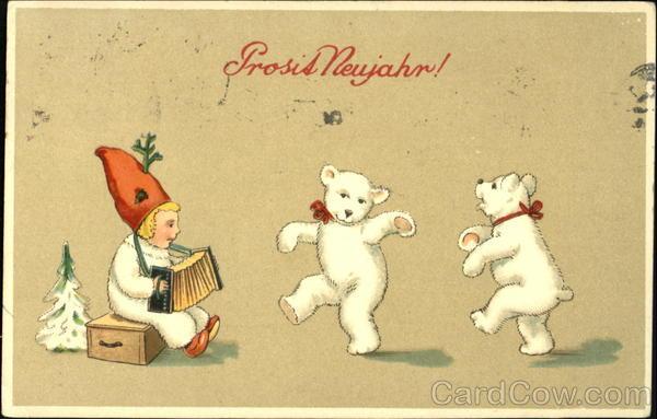 stara kartka noworoczna,