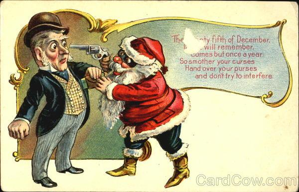 Santa With A Gun To A Man Santa Claus