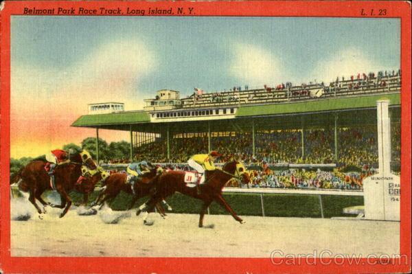 Belmont Park Race Track Long Island N Y Horse Racing