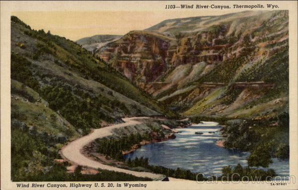 Wind River Canyon Highway US 20 In Wyoming Thermopolis WY