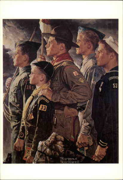 Forward America By Norman Rockwell Art
