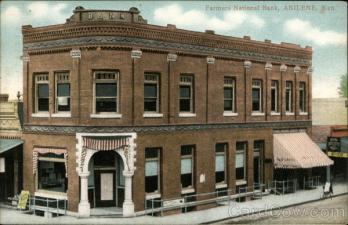 Farmers National Bank Old Postcard