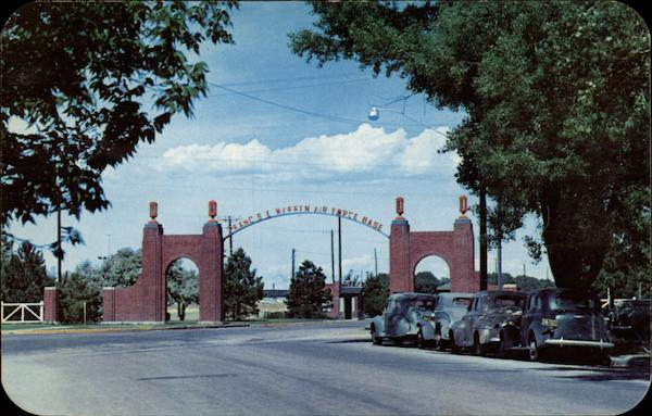 Entrance Gate To FE Warren Air Force Base Cheyenne WY