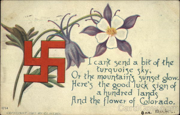 The Flower Of Colorado With Swastika Swastikas