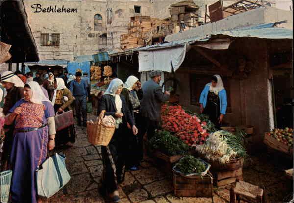 Market Place Bethlehem Israel Middle East