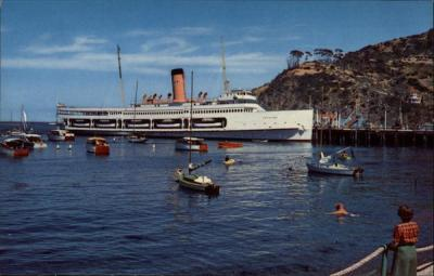 SS Catalina at Rest at Moorings Santa Catalina Island, CA