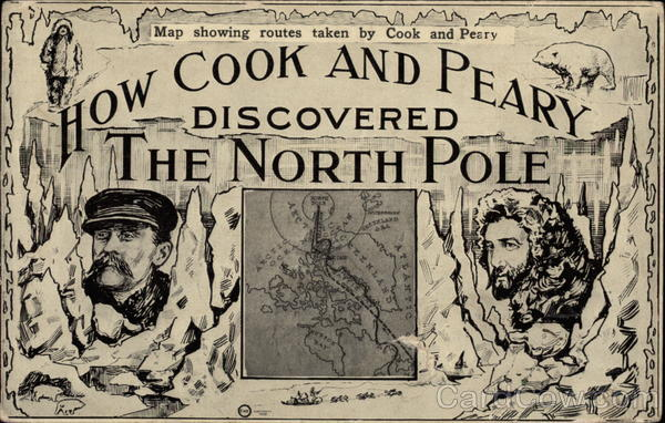 How COok And Peary Discovered The North Pole Maps