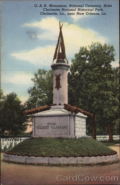 Monument Cemetery Chalmette National